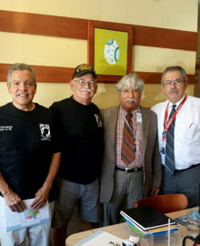 """From left to right: Joe Granados, Frank Villareall and Dr. Garay, """"Lucky"""" Lucianno at Gathering of Eagles on Sept 3, 2014"""