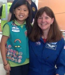 Astronaut Dr. Coleman and Edna's granddaughter